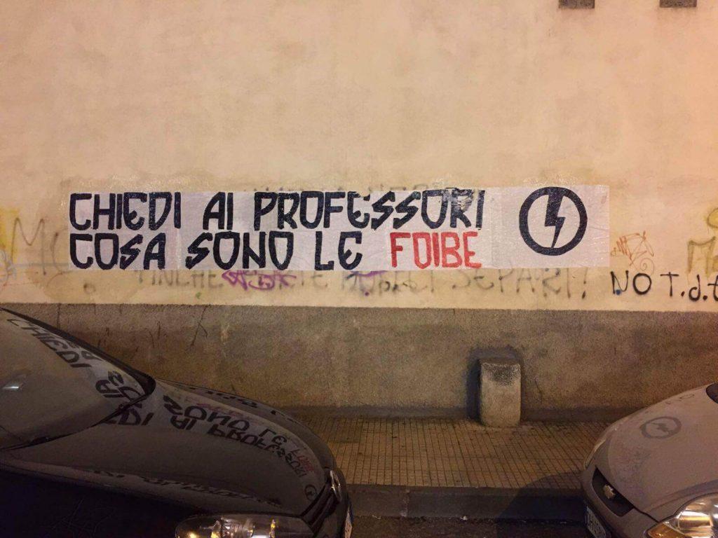 Blocco Studentesco foibe 2