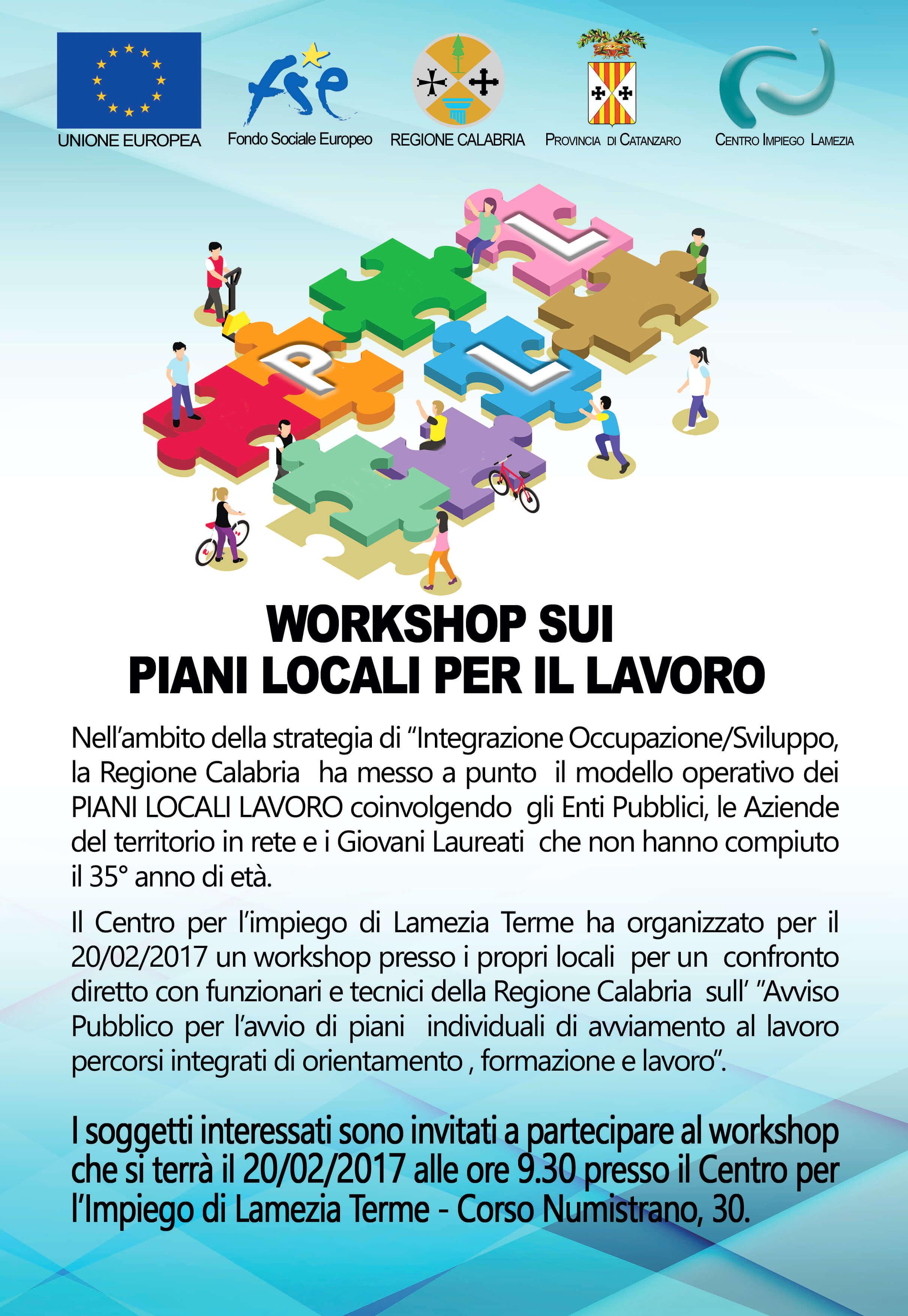 Piani locali per il lavoro luned incontro al centro per for Piani di costruzione del costruttore
