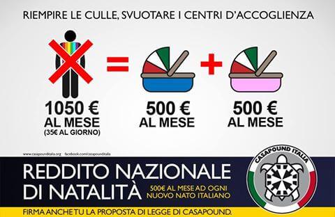 Reddito Nazionale di Natalità - CasaPound