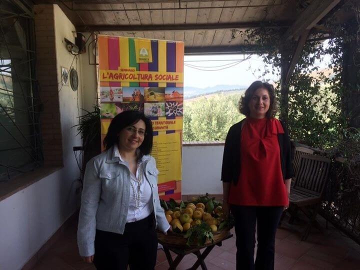 Tiziana Calabrese e Maria Antonietta Mascaro, responsabili di Donne Impresa Coldiretti