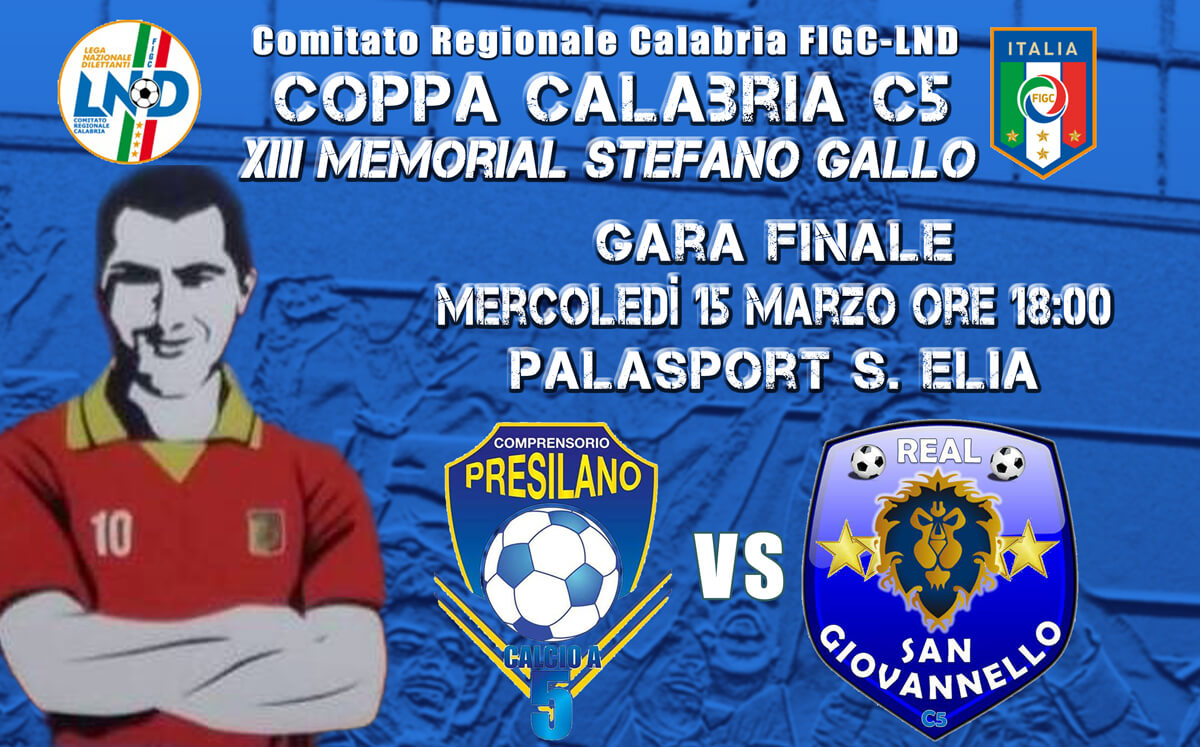 """Coppa Calabria di Calcio a 5 """"Memorial Stefano Gallo"""""""