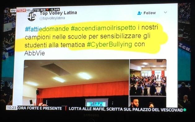 #Accendiamoilrispetto di Top Volley Latina e AbbVie su skytg24