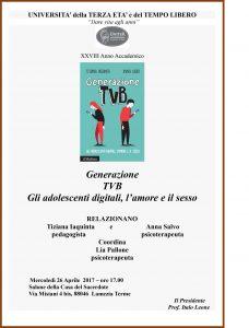 Generazione Tvb. Gli adolescenti digitali, l'amore e il sesso - LameziaTermeit