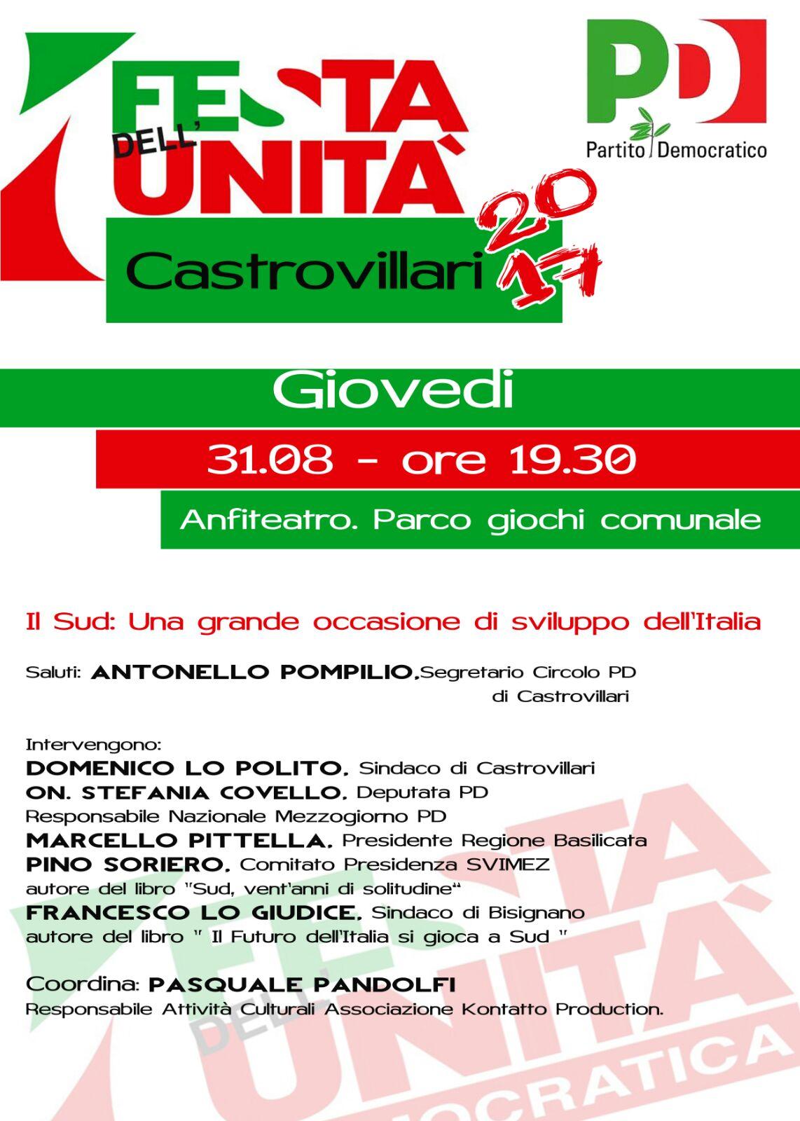 Festa PD Castrovillari - LameziaTerme.it