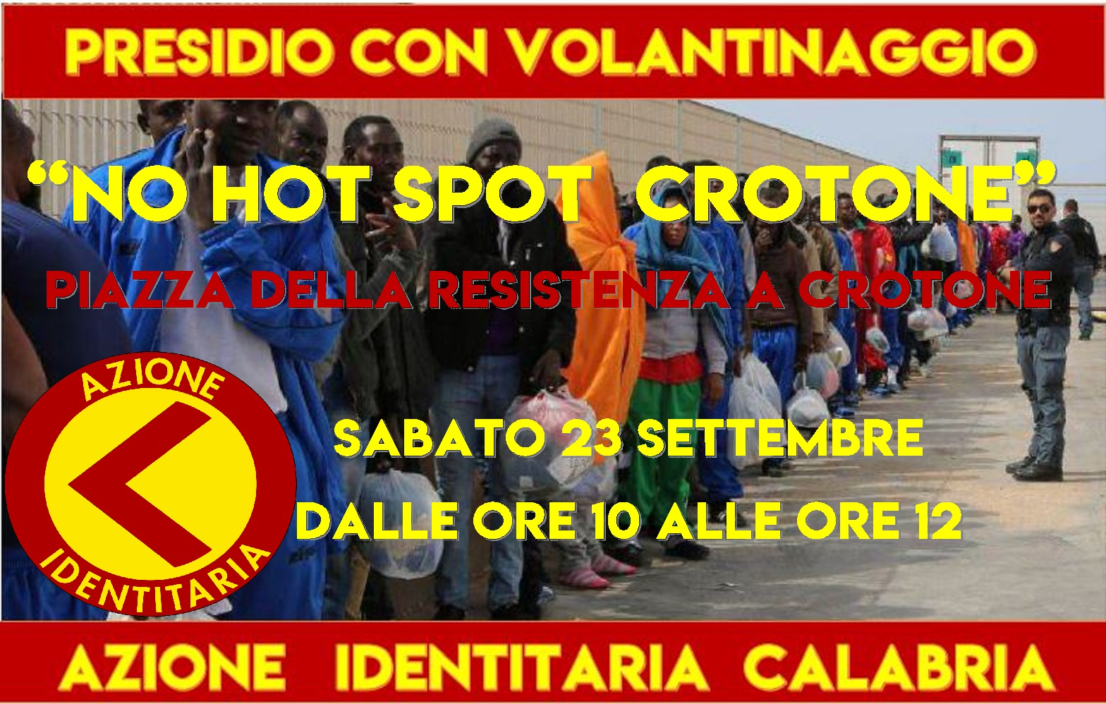 Azione Identitaria contro apertura hotspot - LameziaTerme.it