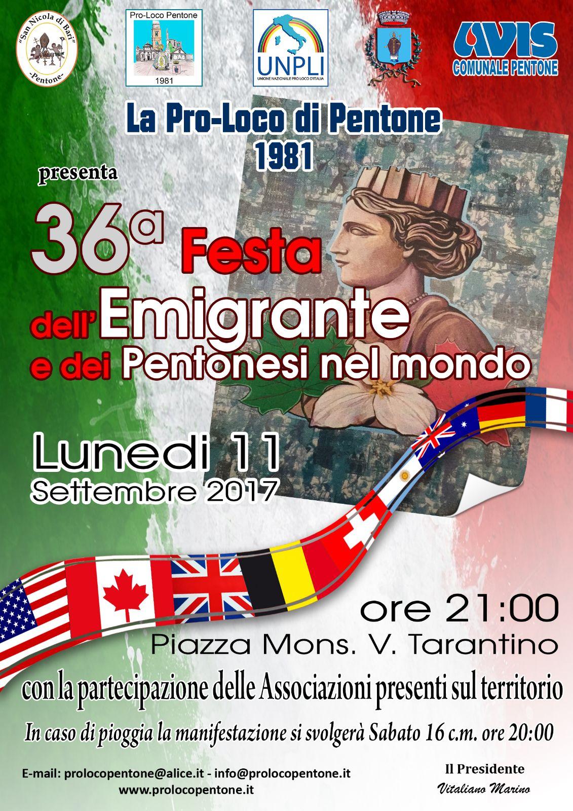 Festa dell'Emigrante, Pentone - LameziaTermeit