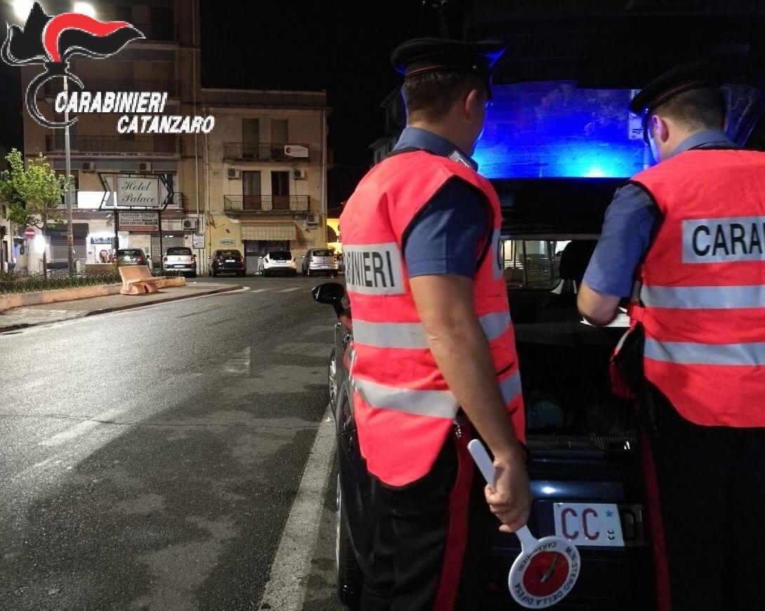 Carabinieri di Catanzaro, controlli straordinari nel weekend