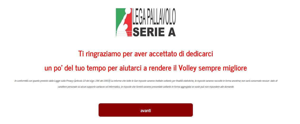 Questionario Lega Pallavolo Serie A