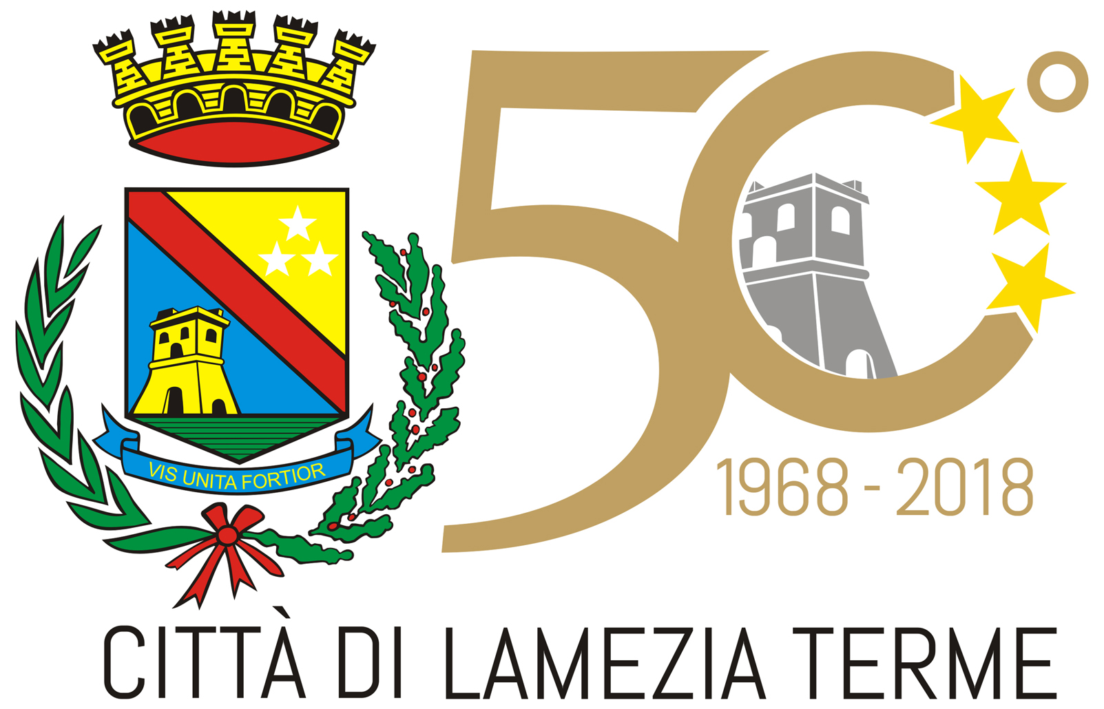 logo 50 anni del Comune di Lamezia Terme