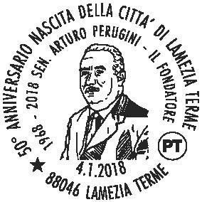 Annullo filatelico per il cinquantennale di Lamezia Terme