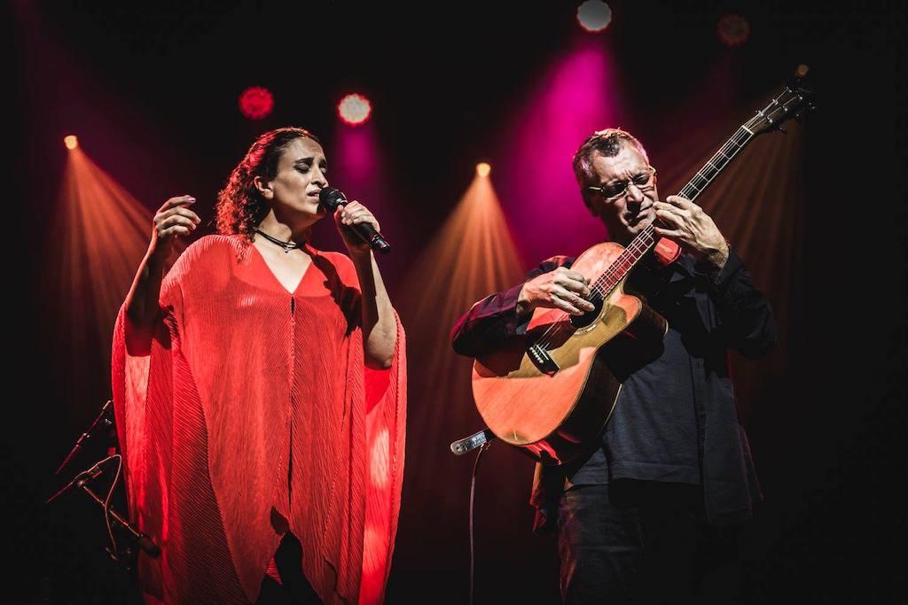 Noa in concerto al Teatro Rendano, la conferenza stampa, un momento del concerto al Quirinale