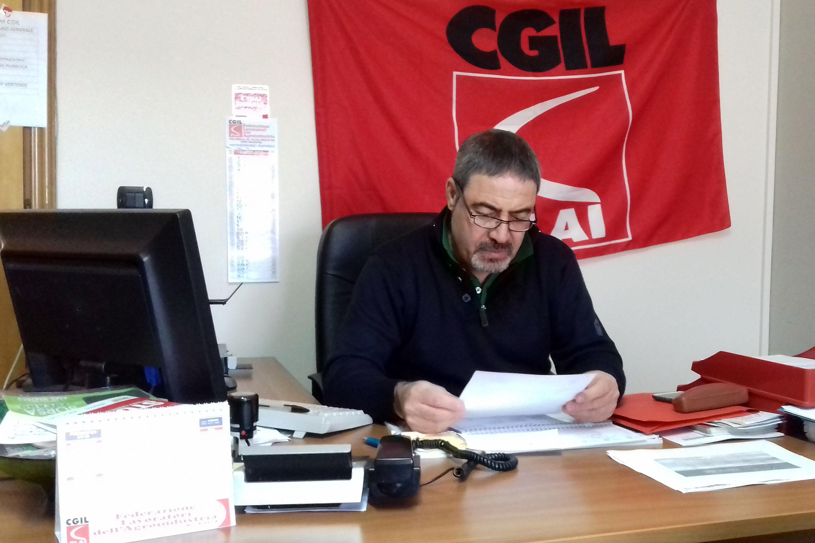 Bruno Costa, segretario regionale della Flai-Cgil