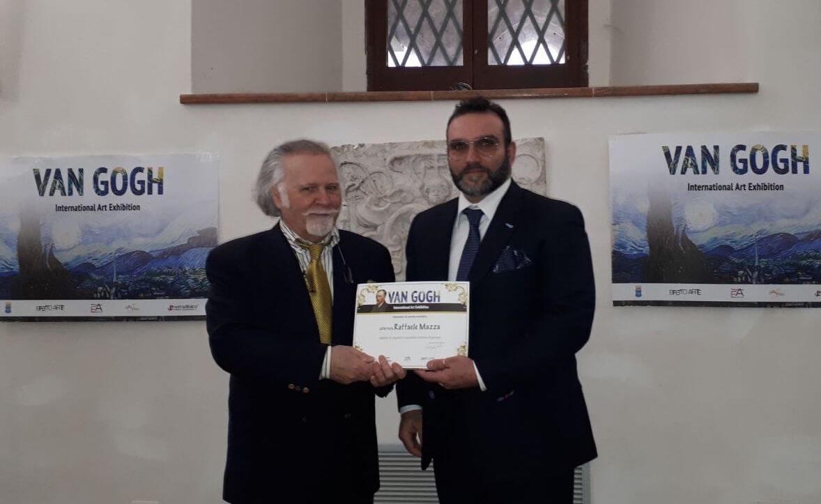Raffaele Mazza riceve Il prestigioso Premio Van Gogh