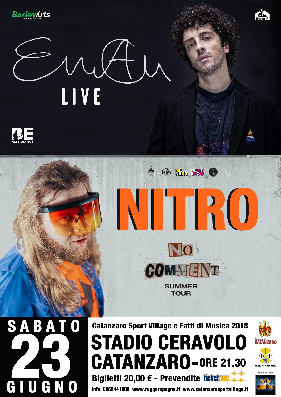 Eman e Nitro in doppio concerto-LameziaTermeit