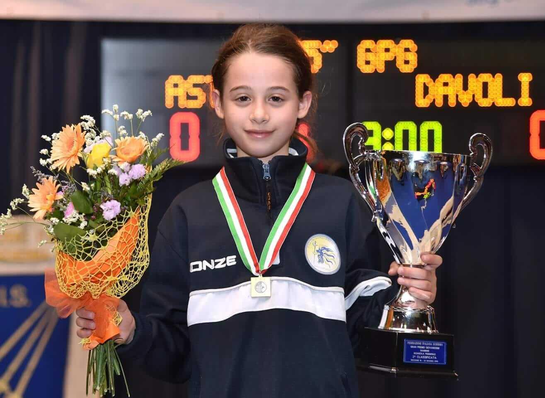 Il circolo scherma lametino vice campione d'Italia con Gloria Davoli