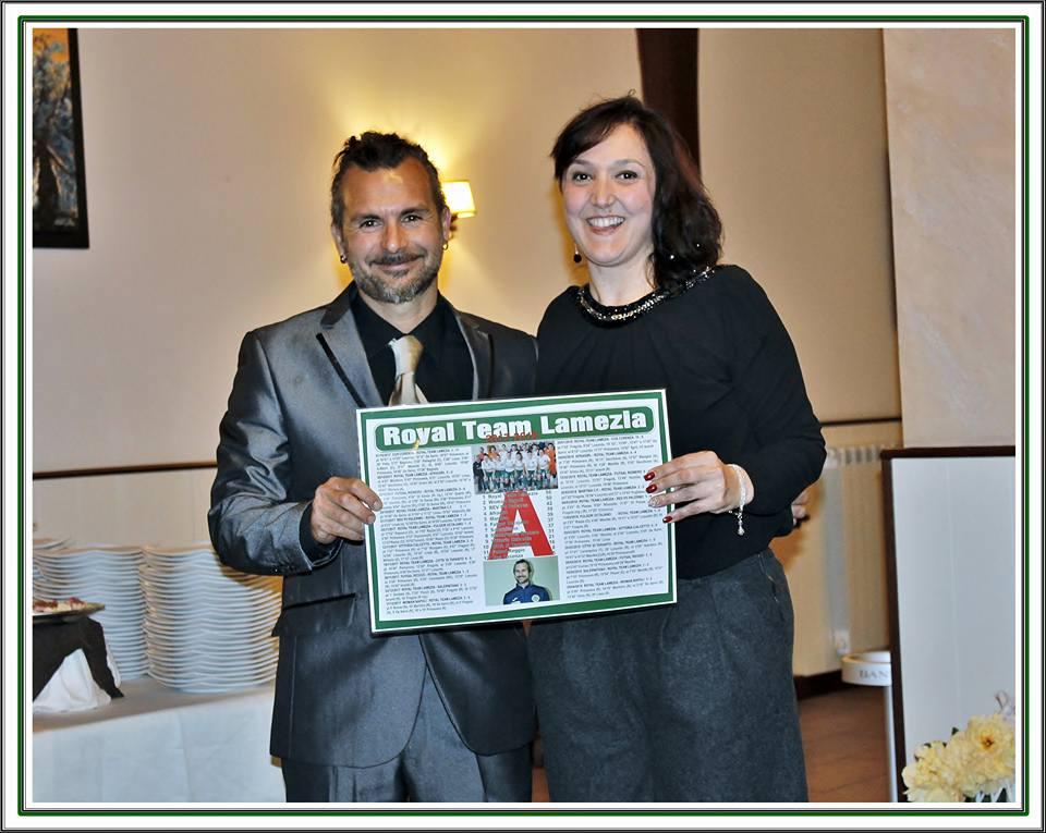 Mister Mauro Ragona con la presidente Claudia Vetromilo