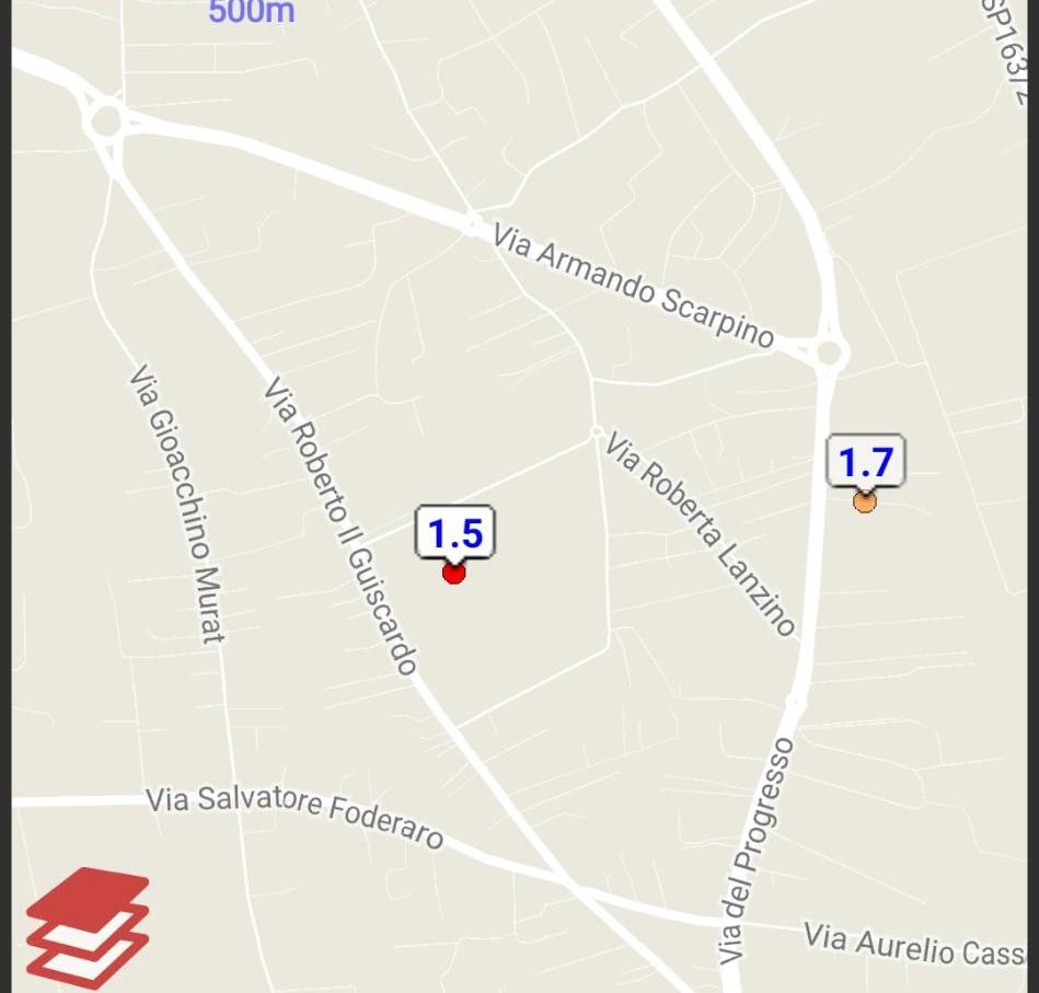 Epicentro terremoto a Lamezia