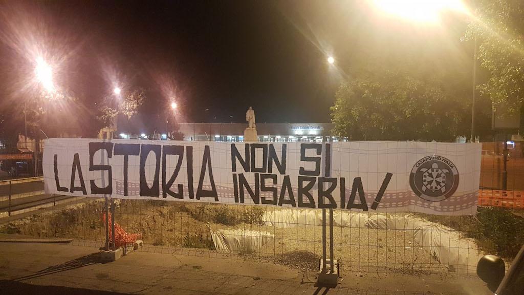 Blitz di CasaPound a Piazza Garibaldi: La storia non si insabbia