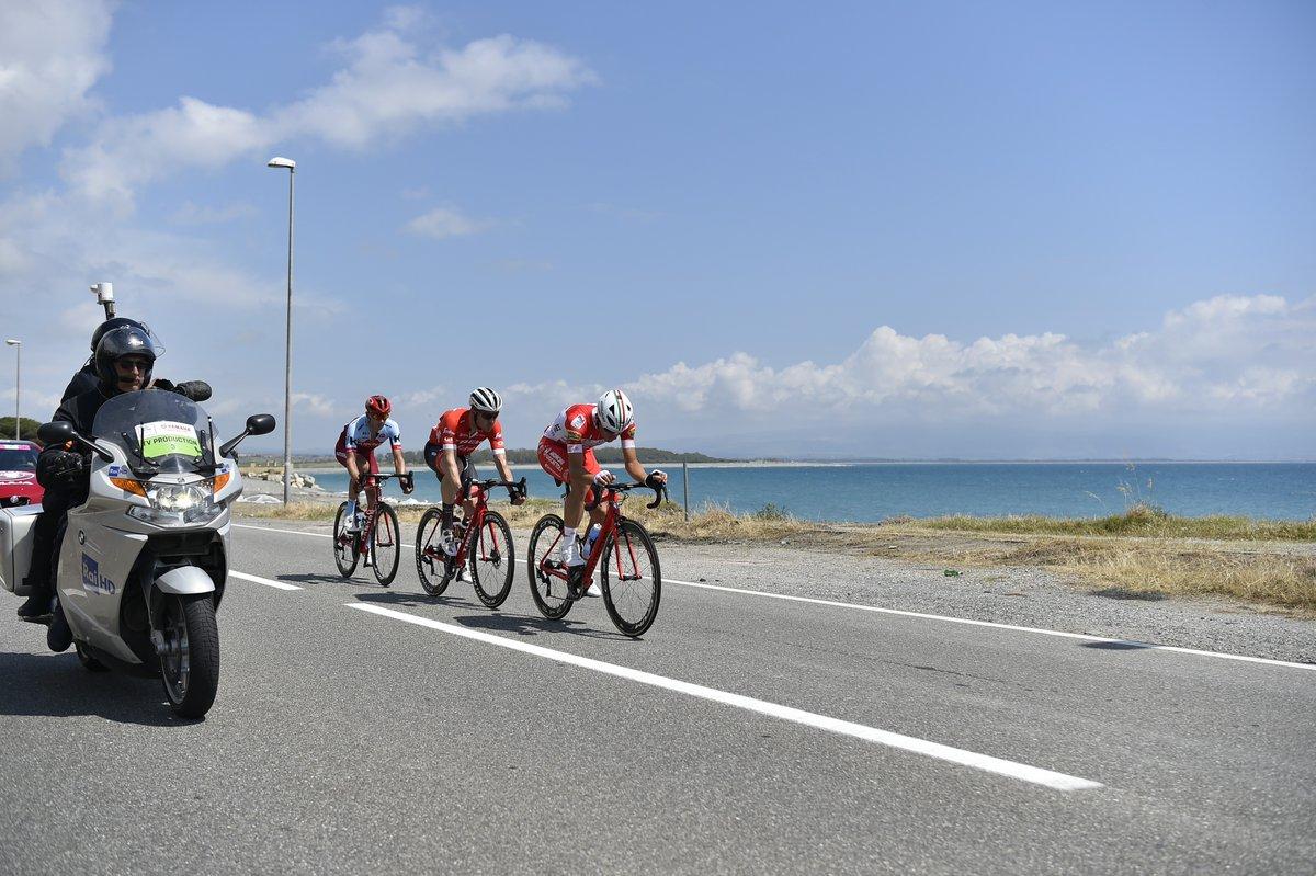 Trio di testa al Giro d'Italia Pizzo Praia a Mare