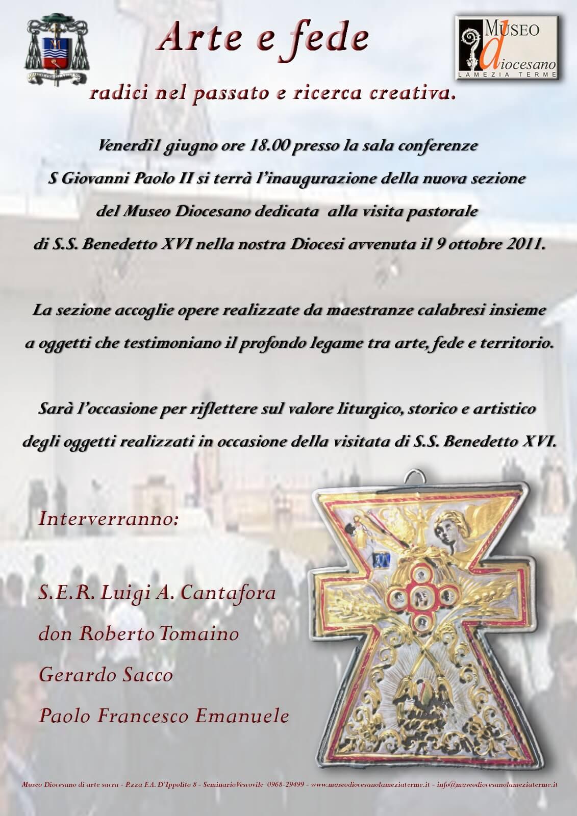 Lamezia. Inaugurazione nuova sezione Museo Diocesano dedicata a Visita Pastorale di Papa Benedetto XVI