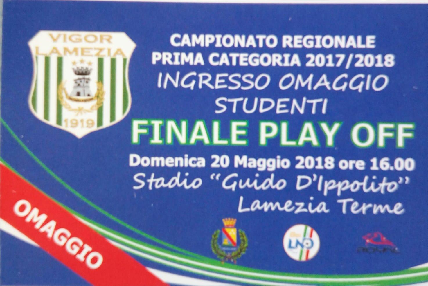 Vigor Lamezia 1919 - San Calogero: ingresso gratuito per 500 studenti