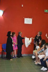 La scopertura della targa dedicata al preside Grillo all'istituto Nicotera-Costabile