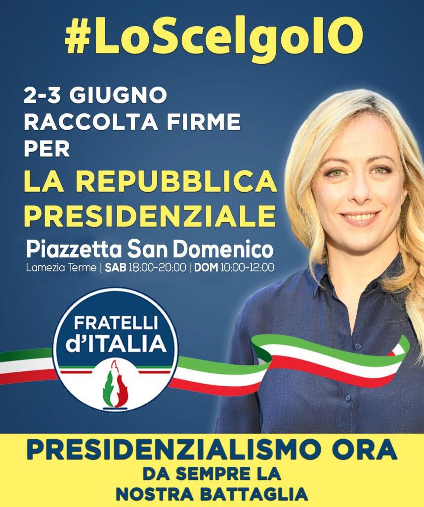 Crisi istituzionale, Fratelli d'Italia lancia la raccolta firme per il presidenzialismo