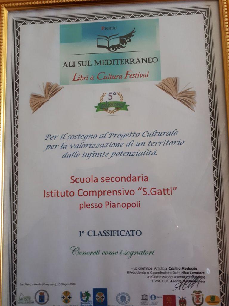 Primo premio per il Don Saverio Gatti al Gran Gala' della Cultura