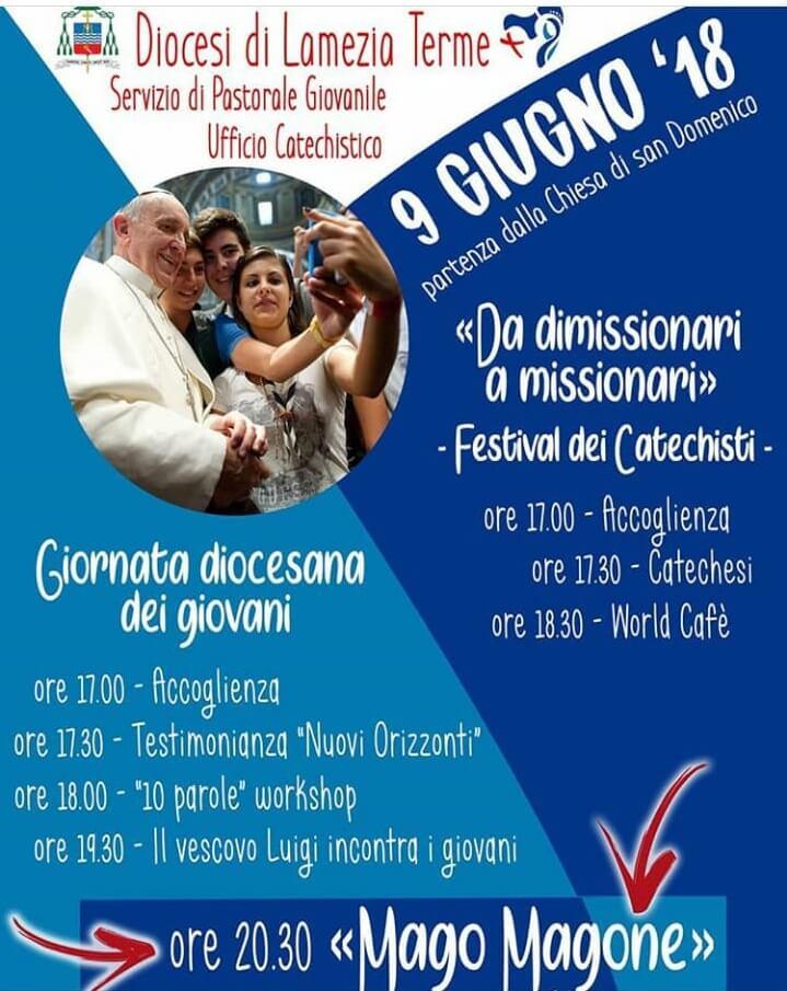 Lamezia. Il 9 giugno giornata diocesana dei giovani e festival dei catechisti