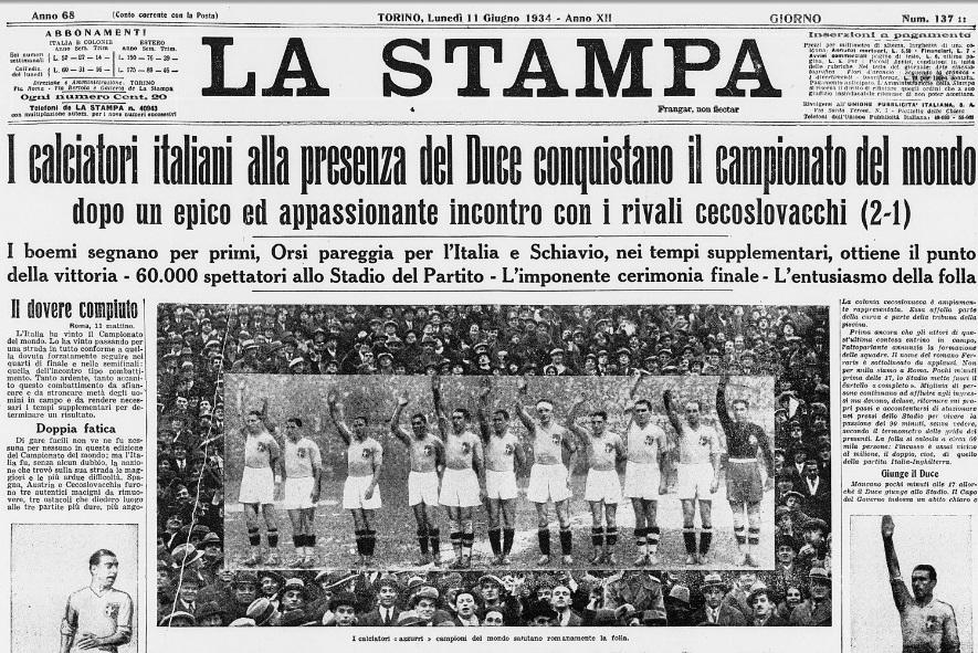 Giornale mondiali del 1934