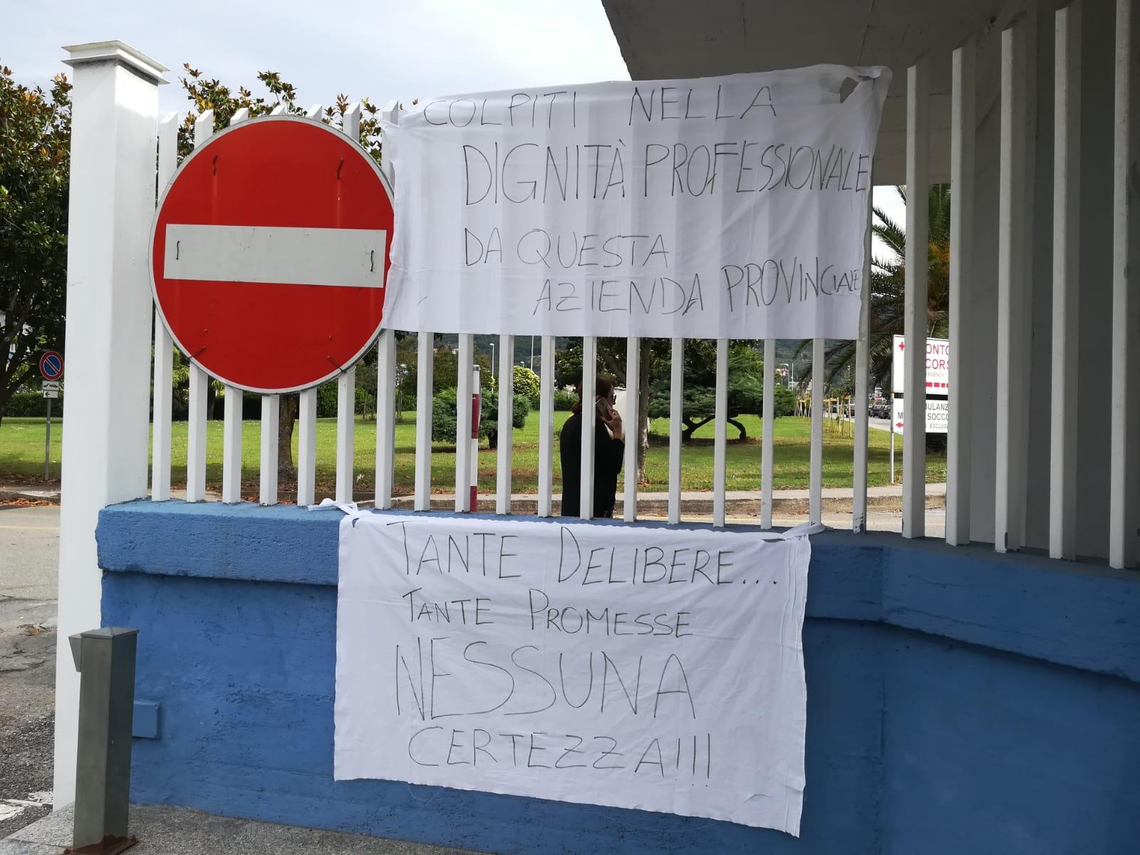 Ospedale Lamezia, i precari chiedono la stabilizzazione