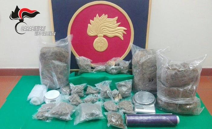 Soriano Calabro. Sequestrati sei kg di marijuana, due arresti