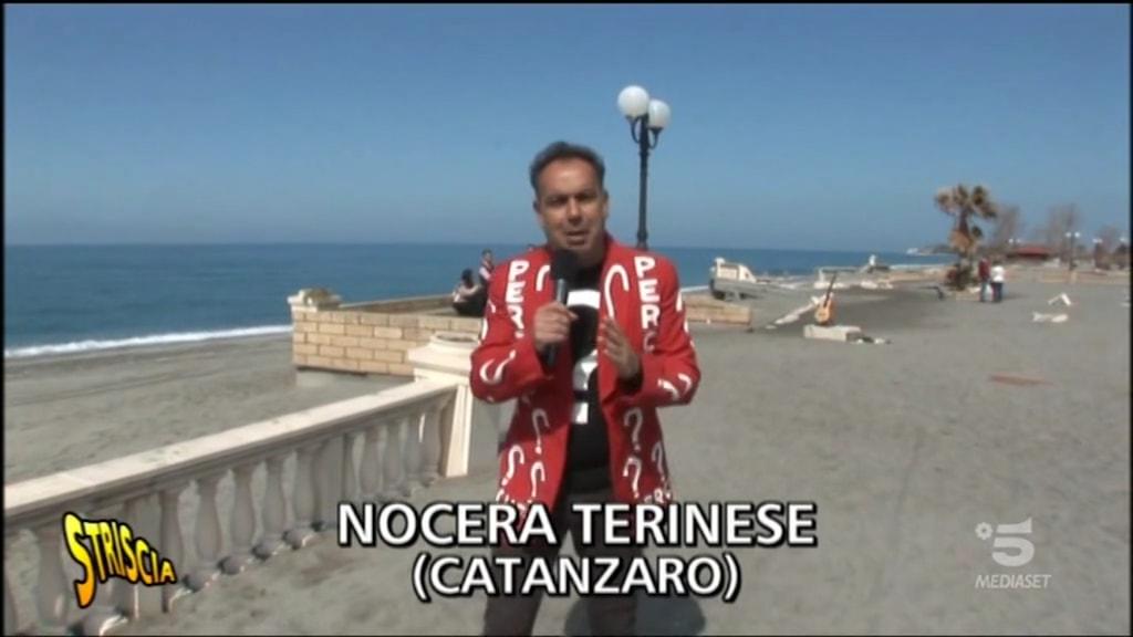 Le telecamere di Striscia la Notizia a Nocera Terinese
