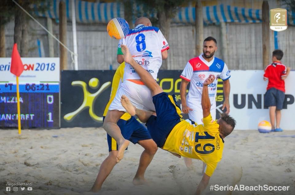 Beach Soccer Lamezia sconfitta alla fiera del gol con Canalicchio
