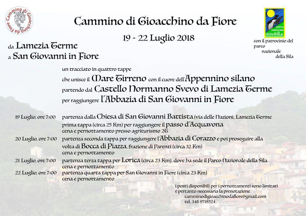 Cammino gioachimita: si parte da Lamezia Terme fino ai luoghi di Gioacchino da Fiore