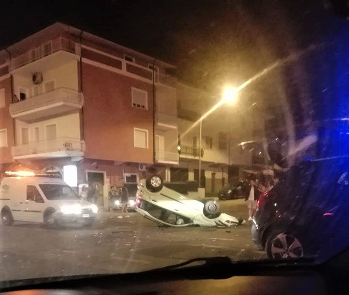 Lamezia, incidente via Marconi notte