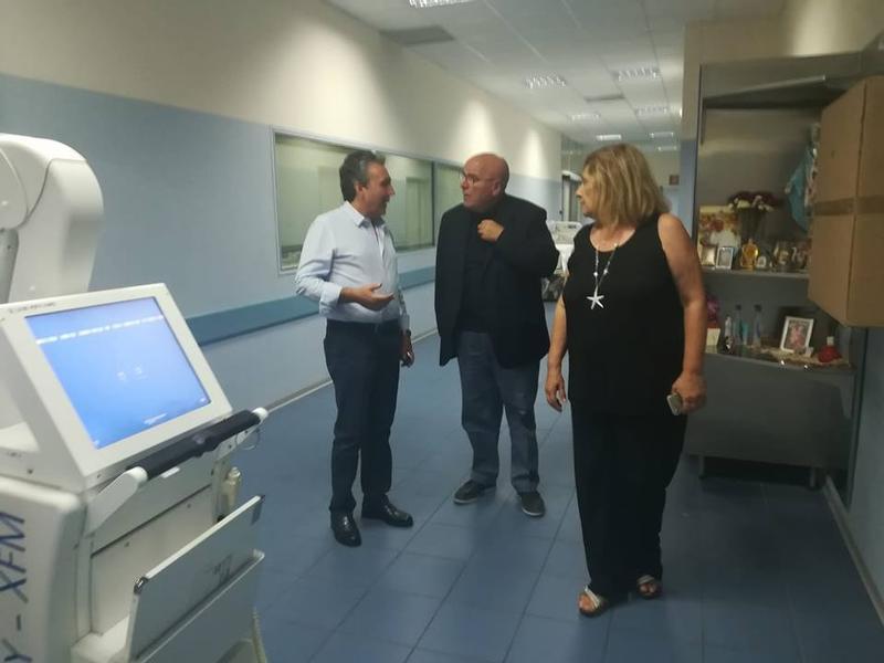 Oliverio è andato in ospedale a visitare il piccolo Nicolay