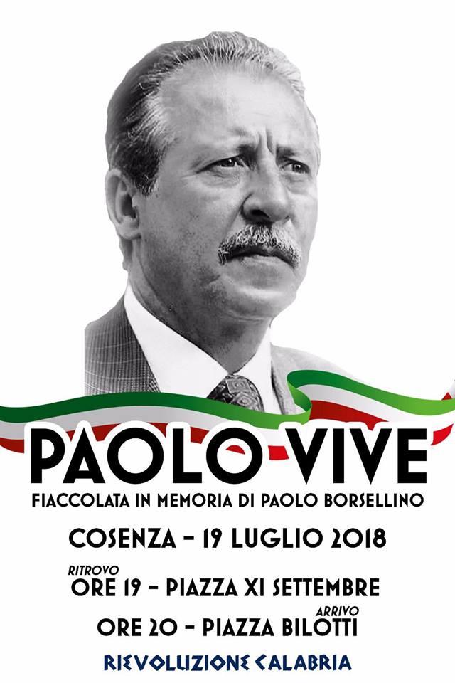 Rievoluzione Calabria ricorda Paolo Borsellino
