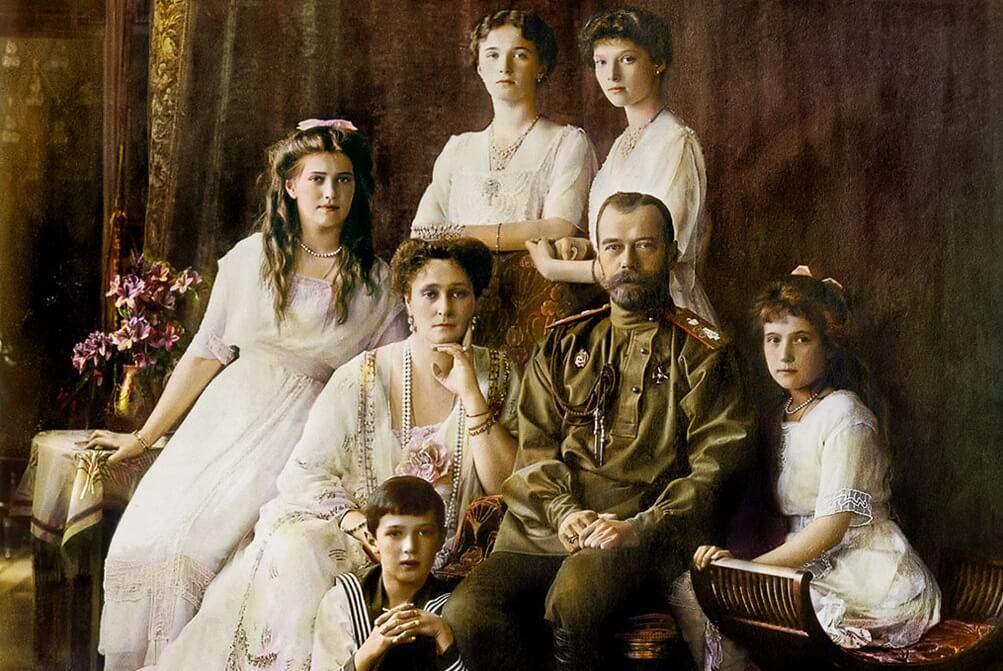 Fine dei Romanov foto famiglia a colori