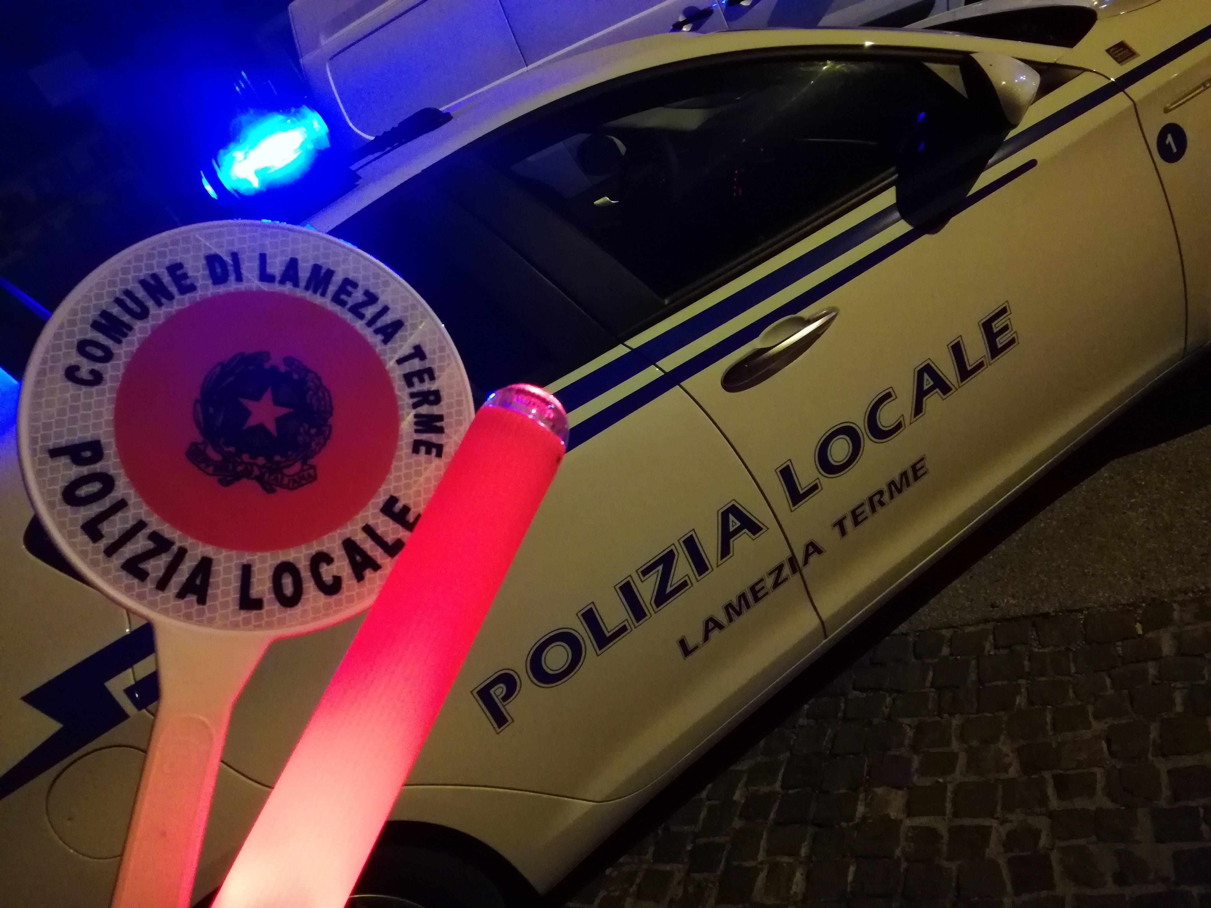controlli straordinari della polizia locale di Lamezia-LameziaTermeit