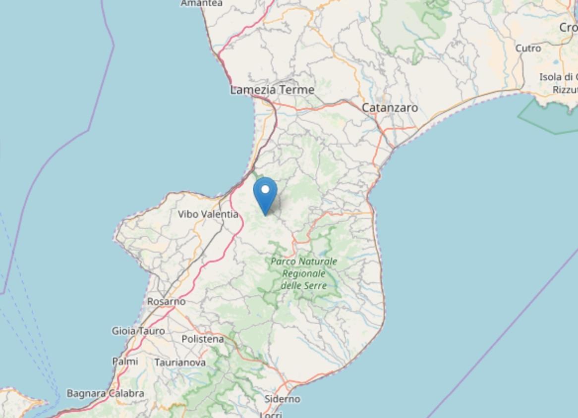 Terremoto di magnitudo ML 2.7 a Filogaso (VV)