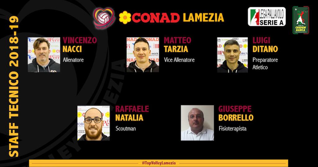Top Volley. Definito lo staff che affiancherà Vincenzo Nacci per la prossima stagione