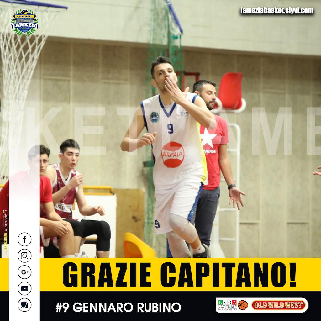 Il Basketball Lamezia saluta il capitano Gennaro Rubino