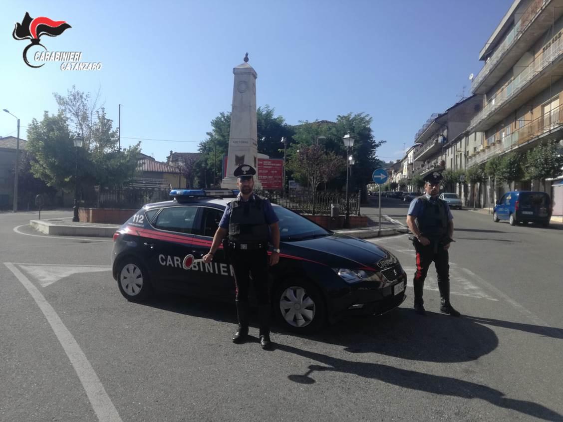 Controlli straordinari dei carabinieri nel territorio intercomunale di Soveria
