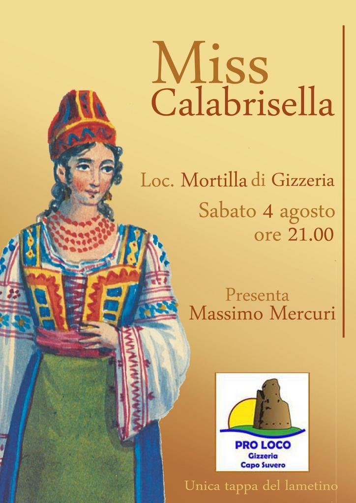 A Gizzeria il concorso regionale di Miss Calabrisella