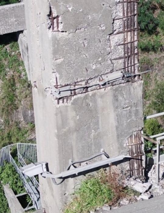 Catanzaro. Militanti Forza Italia fotografano pilastri Ponte Morandi