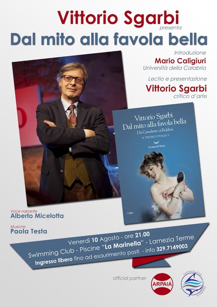Vittorio Sgarbi a Lamezia per presentare il suo ultimo libro