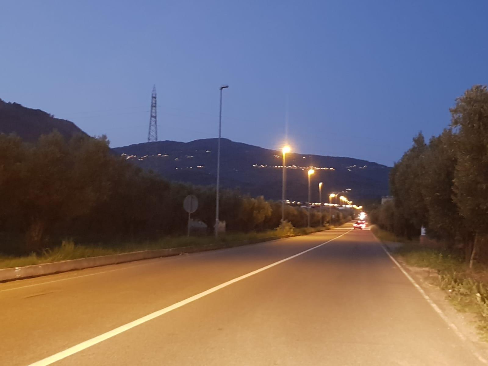 emergenza illuminazione su rettifilo bagni-LameziaTermeit