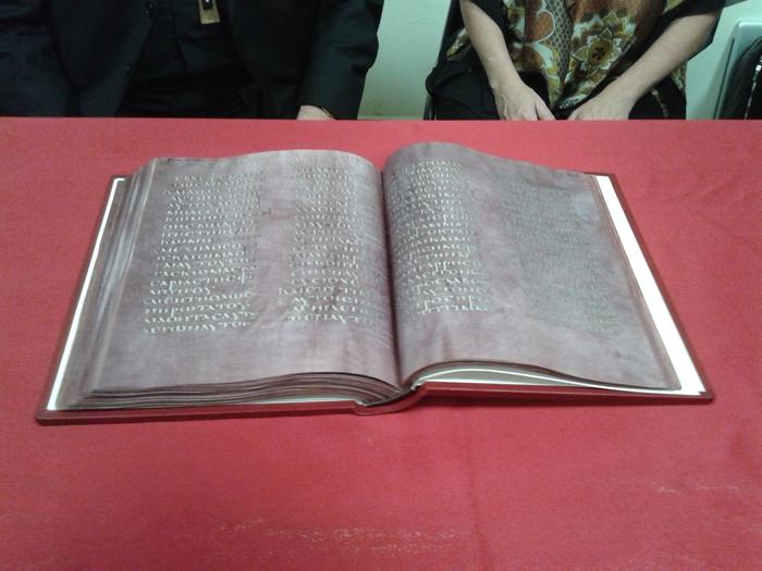 realizzata copia del Codex Purpureus Rossanensis-LameziaTermeit