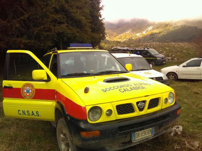 L'auto del soccorso alpino.